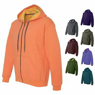 Gildan Heavy Blend Vintage Classic Full Zip Up Mens Hoodie Sweatshirt