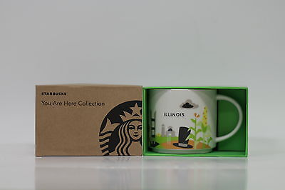 """STARBUCKS  """"You Are Here Collection"""" ILLINOIS coffee mug; Brand new in box"""