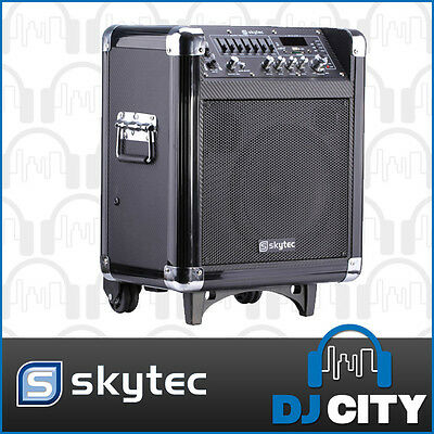 ST065B Skytec Portable PA with Bluetooth VHF Microphone - DJ City Australia