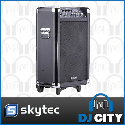 ST075B Skytec Portable PA Speaker with Bluetooth and Wireless Microphone - DJ...