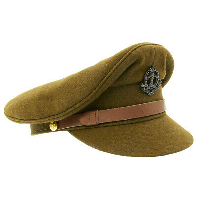 British WWII Officer Peaked Visor Cap- Size US 7 (56cm)