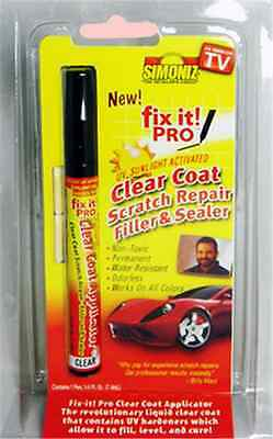 Fix It PRO Clear Car Coat Scratch Repair Sealer Pen Permanent Water Resistant tv
