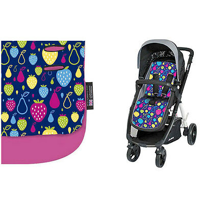 New Brand Cuddleco Comficush Memory Foam reversible stroller liner Tutti & Pink
