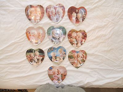 A complete set of 10 Precious Moments Plates