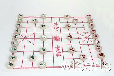 Wooden Chinese Chess Set (Xiang Qi) with Plastic Board. (Several Sizes)