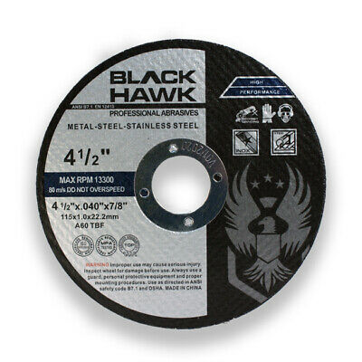 """100 Pack 4.5""""x.040""""x7/8"""" Thin Cut off Disc Metal & Stainless Steel Cutting Wheel"""
