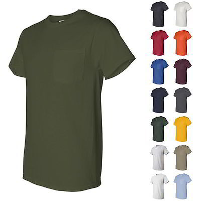 Fruit of the Loom Heavy Cotton HD Mens T Shirt with a Left Chest Pocket 3930PR