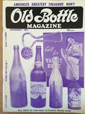 Old Bottle Magazine - November 1974 - Illustrated - Collectible
