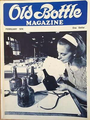 Old Bottle Magazine - February 1976 - Collectible - Illustrated