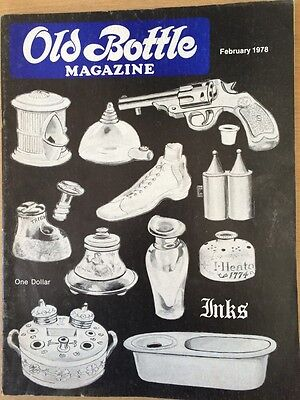 Old Bottle Magazine - February 1978 - Inks - Collectible - Illustrated