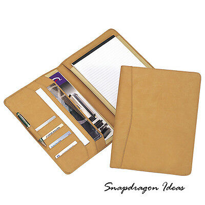 "SnapdragonIdeas  Simulated Leather 8"" x 11"" Pad Holder Tan"