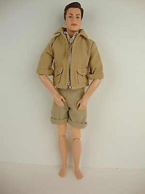 2 piece Outfit in Tan Jacket and Tan Shorts Made to Fit the Ken Doll
