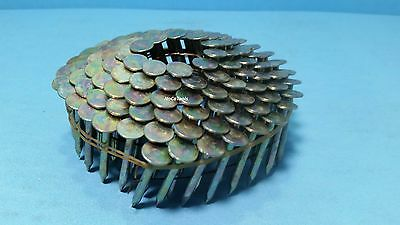 """Wire Collated Electro Galvanized Roofing Coil Nail 1 1/4"""" Inch X .120 7200 Count"""