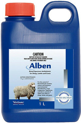 Alben Broad Spectrum Drench For Sheep, Lambs And Goats 1-Litre (Albendazole)