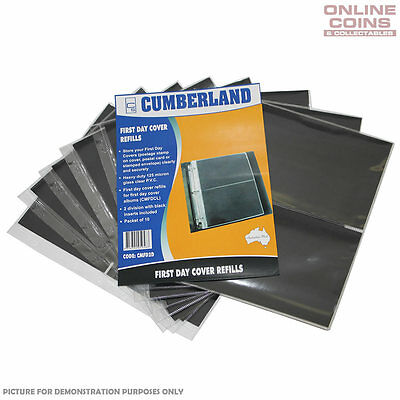 Cumberland 2 Pocket Clear PVC Punched 7 Hole Pages Packet of 10