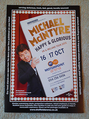 MICHAEL MCINTYRE Tour/Concert Flyer Happy & Glorious Comedy Stand-Up Sheffield