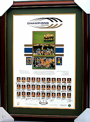 New Wallabies 1999 World Cup Champions Squad Hand Signed Memorabilia Framed