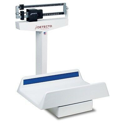 Detecto Baby Scale Mechanical 130 Lb X 1 Oz 22 X 14 3/4 X 4 1/2 Tray 450 NEW