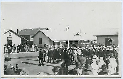 1920 RP NPU POSTCARD PRINCE OF WALES AUST ROYAL VISIT THEBARTON BARRACKS SA z93.