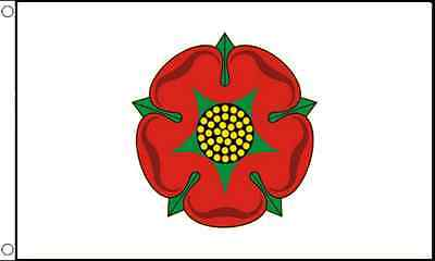 GIZZY® Lancashire Red Rose (Old) 5' x 3' flag