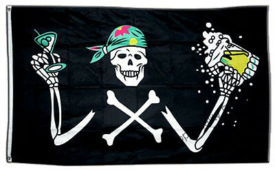 GIZZY® Pirate With Beer 5' x 3' flag