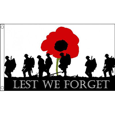 GIZZY® Lest We Forget (Remembrance Day) 3' x 2' flag