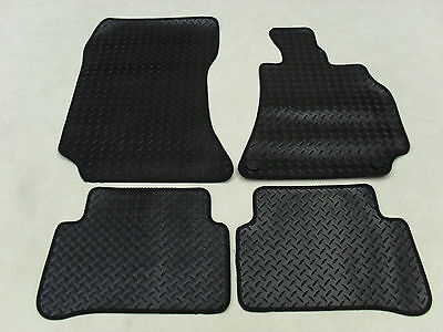 Mercedes E Class 2008-2013 Fully Tailored Deluxe RUBBER Car Mats in Black