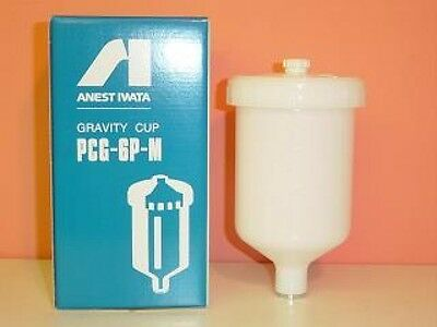 ANEST IWATA PCG-6P-M 600 ml Plastic Gravity Cup for W-400 LPH-400 New