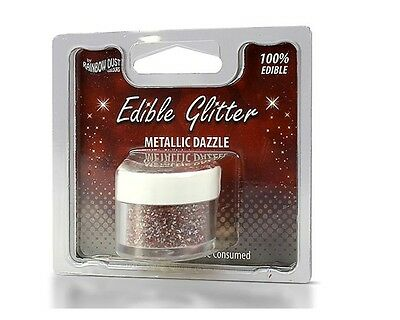Rainbow Dust Edible Glitter - Metallic Mix 5g, essbares Glitzerpulver