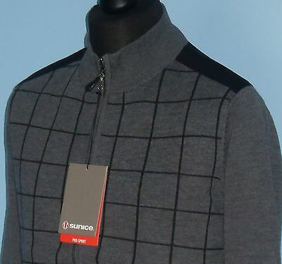 Sunice Golf Mens Huntley Lined Merino Wool Full Zip Windstopper 2 Colours S-XL