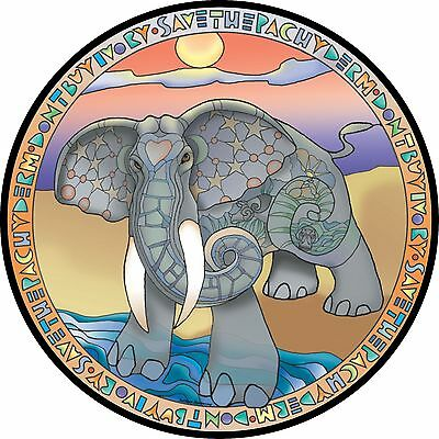 Pachyderm Elephant Spare Tire Cover Jeep RV Camper Trailer etc(all sizes avail)