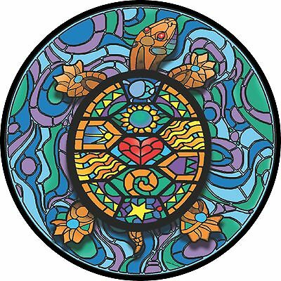 Stained Glass Turtle Spare Tire Cover  Wheel Cover Jeep RV Camper(all sizes avai