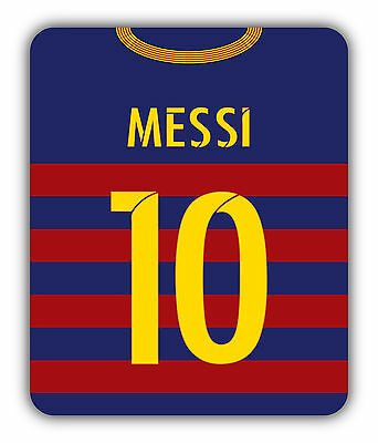 BARCELONA FOOTBALL themed MOUSEMAT - Personalised mouse mat pad 15/16 shirt