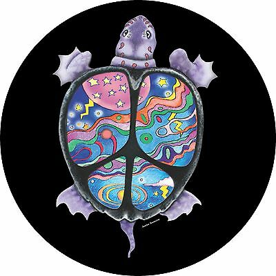 Turtle Peace Spare Tire Cover Jeep RV Camper VW Trailer etc(all sizes available)