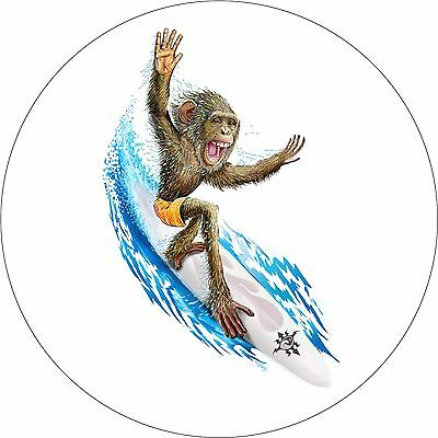 Surfing Monkey Spare Tire Cover Jeep RV Camper Trailer VW etc(all sizes avail)