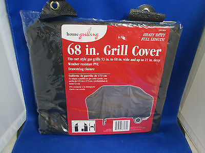 HOME DEPOT New in Plastic 68 INCH GRILL COVER Heavy Duty Full Length DrawString
