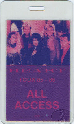 HEART 1985/86 Laminated Backstage Pass Red