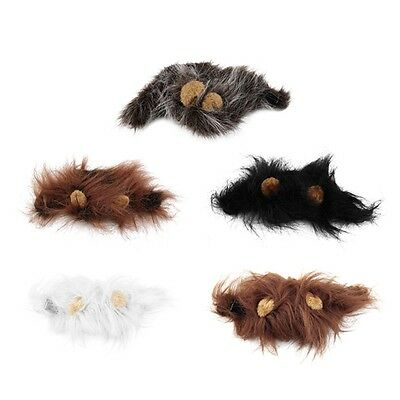 Pet Costume Lion Mane Wig for Cat Halloween Christmas Party Dress Up With Ear OE