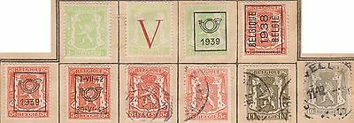 (JF-1) 1936-60 Belgium mix of 60stamps 2c to 1F MH &used