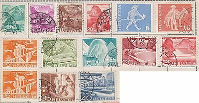 (JF-23) 11862-1960 Switzerland mix of 69 3c to 2F MH used