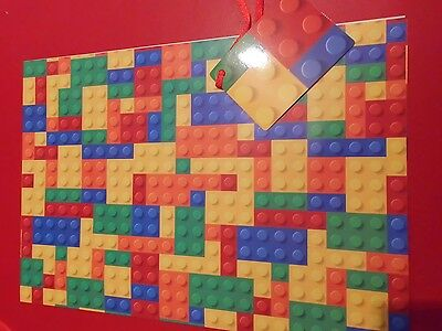 Lego Gift Wrap Awesome Birthday Paper Party Nerd Geek Room Decor #2