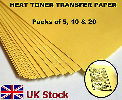A4 Heat Toner Transfer Paper, Laser Printer, for DIY PCB Prototyping - UK Stock