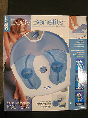 conair foot spa deluxe massaging combination of vibration & heat and bubbles