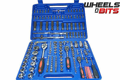 "Socket Wrench Set Ratchet Bit Torx 172Pc 1/2"" 1/4"" 3/8"" Tool Kit Mechanics 171"