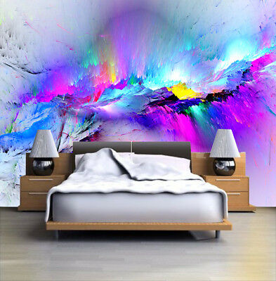 229 X LARGE CANVAS 18''x 32'' WALL ART ABSTRACT MULTICOLORED TREE PRINT PICTURE