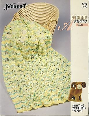 Bouquet Panorama Baby - ripple afghan knitting pattern