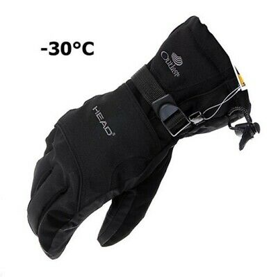 Men Women -30℃ Winter Warm Ski Gloves Waterproof Snowboard Brand  Head Gloves