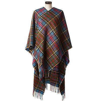 EDINBURGH LAMBSWOOL 100% Luxury Lambswool Ladies Cape Tartan Anderson