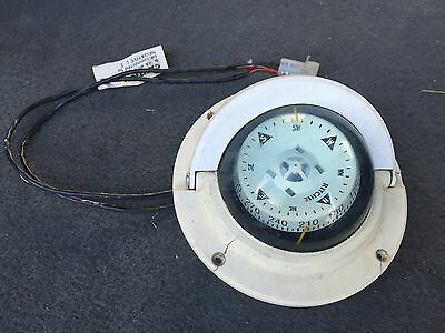 RITCHIE F-83W VOYAGER COMPASS Direct Reading Dial Flush Mount Work Great