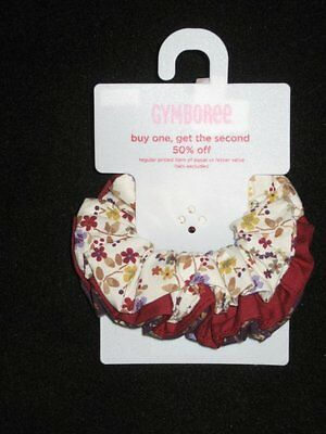 Gymboree AUTUMN HIGHLANDS Flower Scrunchie HAIR BOW 3 pc SET